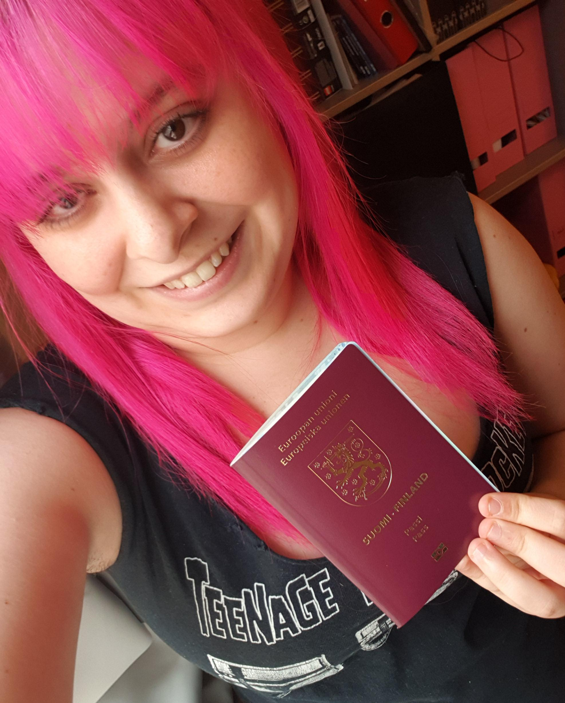 Eight years ago I took an insane risk and moved to Finland from PA with just a suitcase and without knowing Finnish. Today I got my Finnish passport!