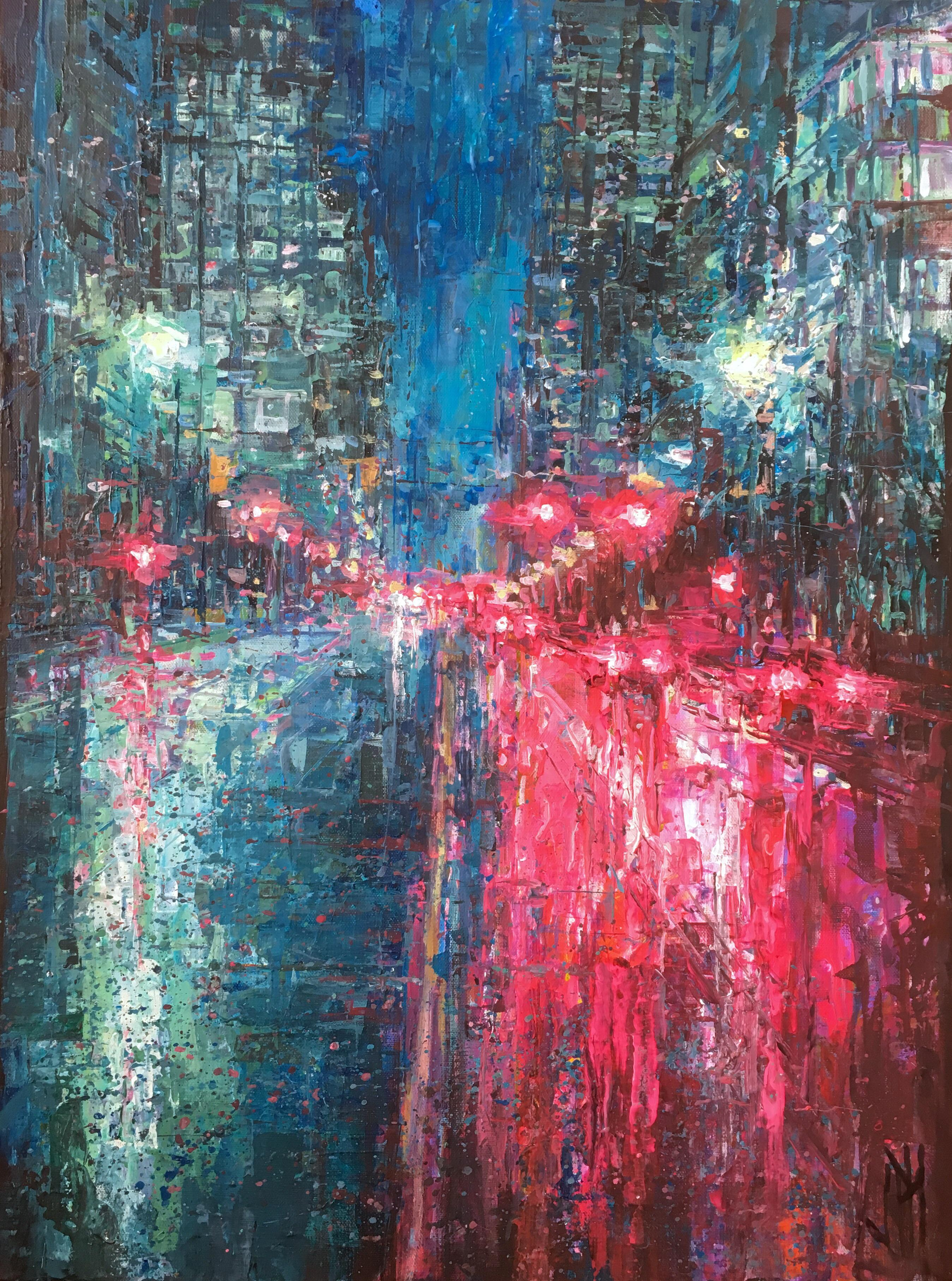 Painting I did of downtown Vancouver.