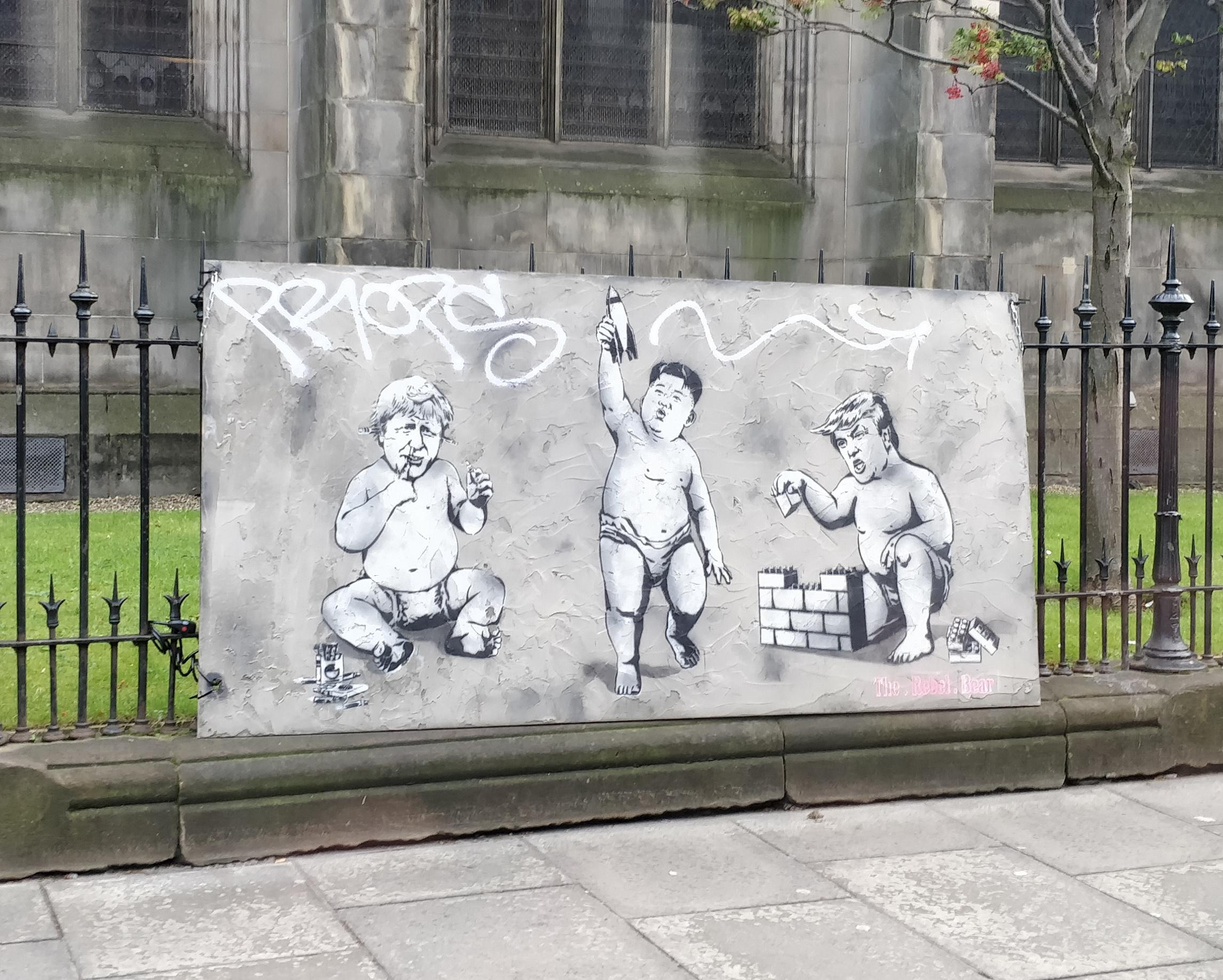 Spotted in Edinburgh today. By The Rebel Bear.