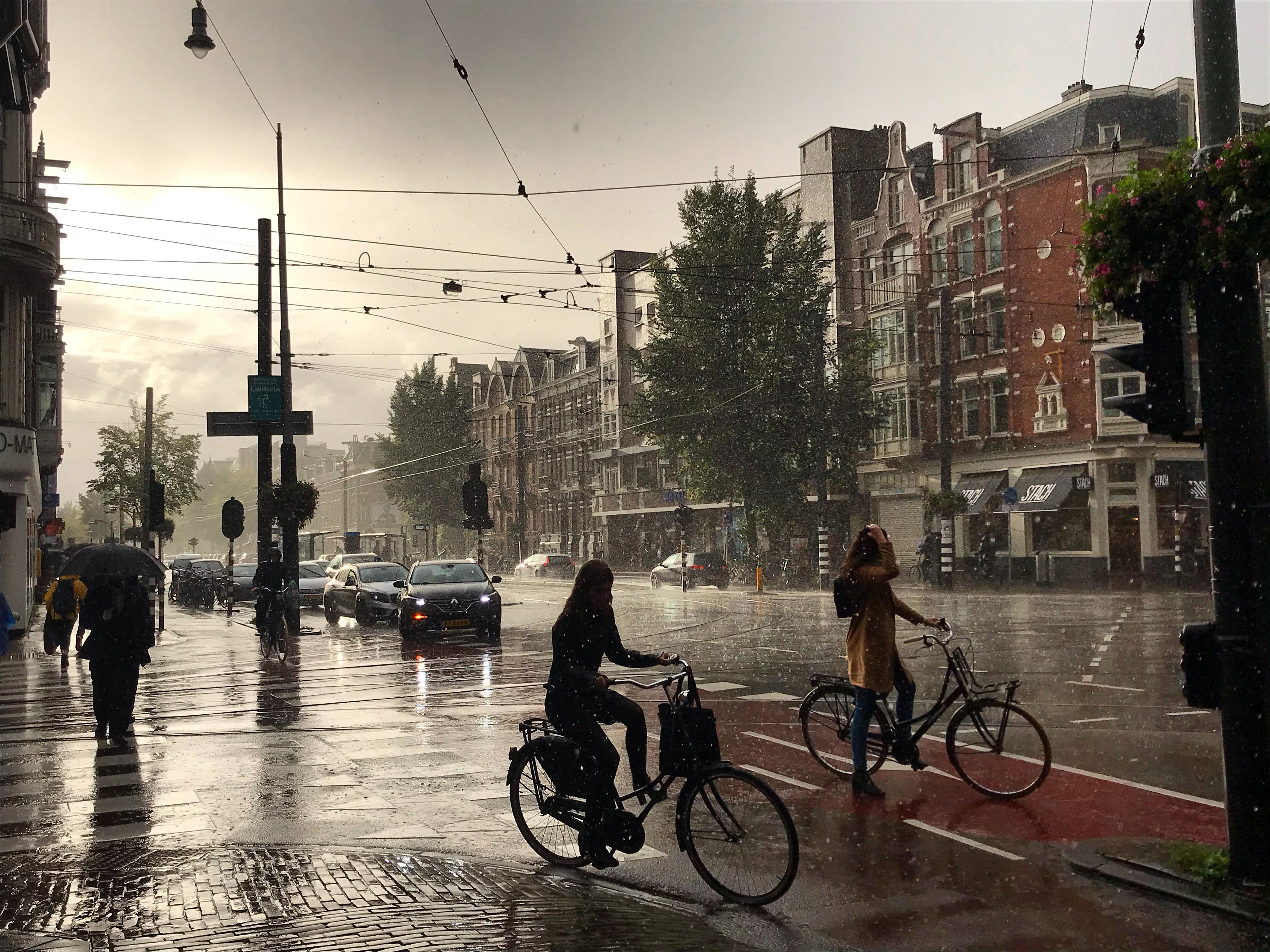 This pic I took of Amsterdam under the rain