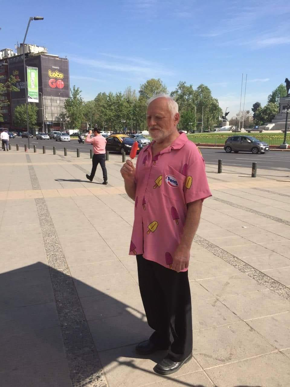 So, hide the pain Harold came to my country to film a ice cream ad.