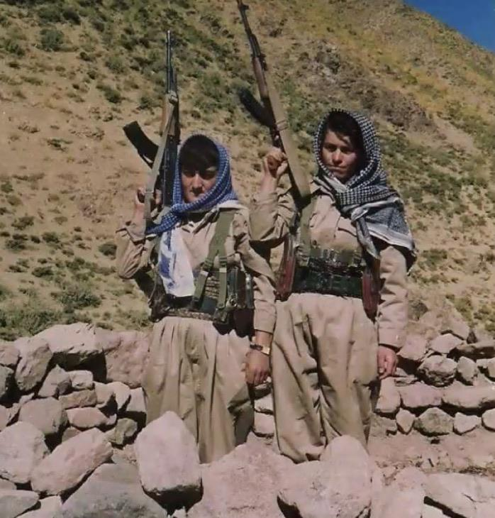 My mother when she was a Peshmerga, Kurdish freedom fighter, during the Saddam regime.
