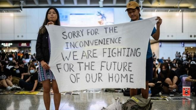 """Hong Kong protesters - """"We are Fighting for the Future of Our Home"""""""