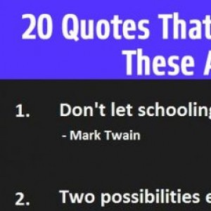 20 Famous Quotes
