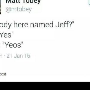 Anybody Named Jeff