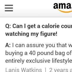 Calorie Counter On Amazon