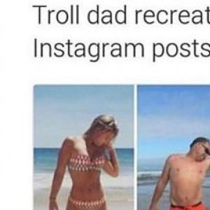 Dad Trolling His Daughter