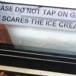 Don't Go Frightening The Ice Cream
