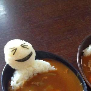 Edible men in a bowl of soup