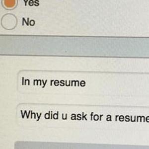 It Is In My Resume