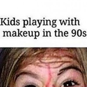 Kids Playing With Make Up Then Vs Now