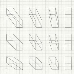 Kind of mesmerising, doodling on grid paper
