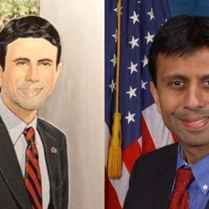 Louisiana Governor Bobby Jindal's Official Portrait Looks Nothing Like Him