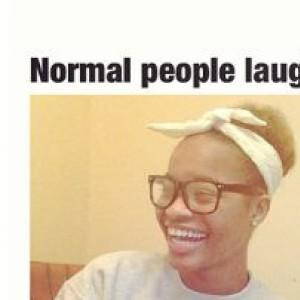 me laughing