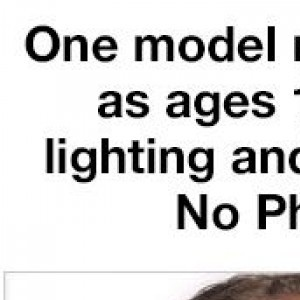 One Model Made To Appear As Ages 10 To 60 With Lightning And Make Up Only. No Photoshop.