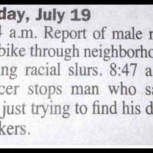 Report Of Male Making Racial Slurs