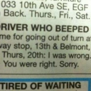 Road Rage Apologist