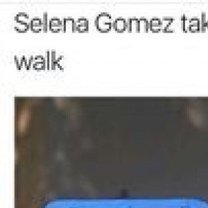 Selena Gomez taking her music out for a walk