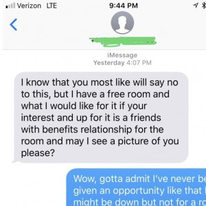 Sex In Exchange For A Room