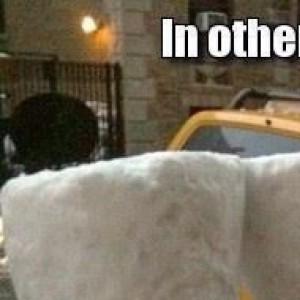 Two Feet Of Snow Fell Today...