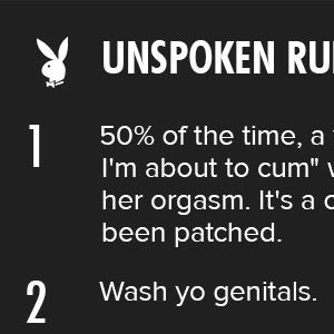 Unspoken laws of sex