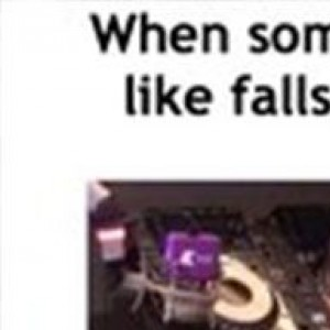 When someone you don't like falls