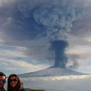 When the Volcano Photobombs You